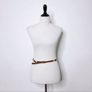 J. Crew Thread Wrapped Skinny Belt Italian Leather